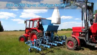 József Lendvai (Nagykáta, Hungary)|ORS-6/3M Cultivator equipped with 300 kg fertilizer adapter