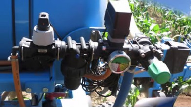 Omikron cultivator with liquid fertilizer adapter